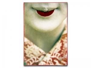 Peter MacIntosh, <em>Maiko Rookie (Color)</em>. Photo printed on Japanese washi mounted on wood panel, 29 x 20 x 2cm.